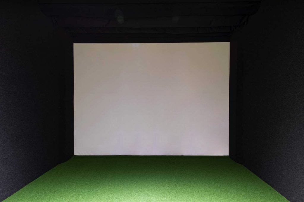 Golf Simulator impact hitting screen