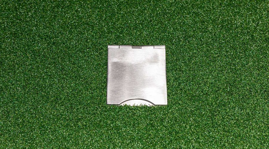 Cable protection boxes for golf simulator flooring